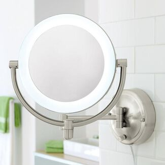 10X/1X Natural-Light Wall Mirror